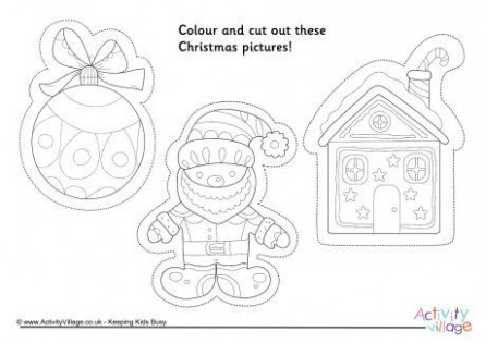 Christmas colouring picture cutouts 15 | christmas crafts | Christmas ..