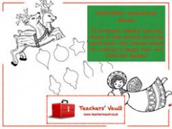 Christmas Colouring Sheets by helenrachelcrossley - Teaching ..