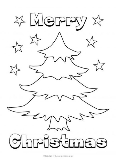 Christmas Colouring Sheets (SB19) - SparkleBox - Christmas Colouring Pages Tree