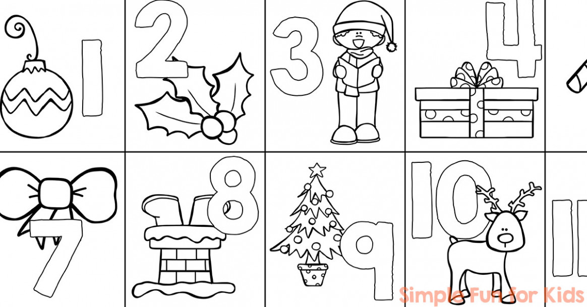Christmas Countdown Day 20: Advent Calendar Coloring Page - Simple ..