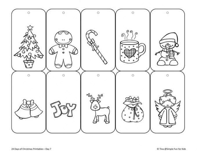 Christmas Countdown Day 20: Color Your Own Printable Christmas Gift ..
