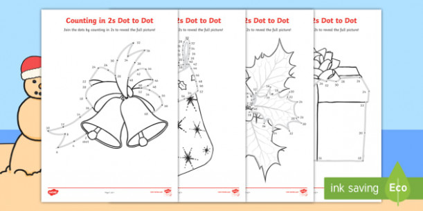 Christmas Counting in 17s Dot to Dot Colouring Pages-Australia ..