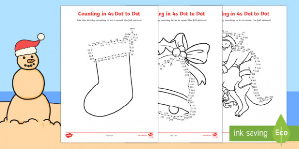 Christmas Counting in 17s Dot to Dot Colouring Pages – Christmas ..