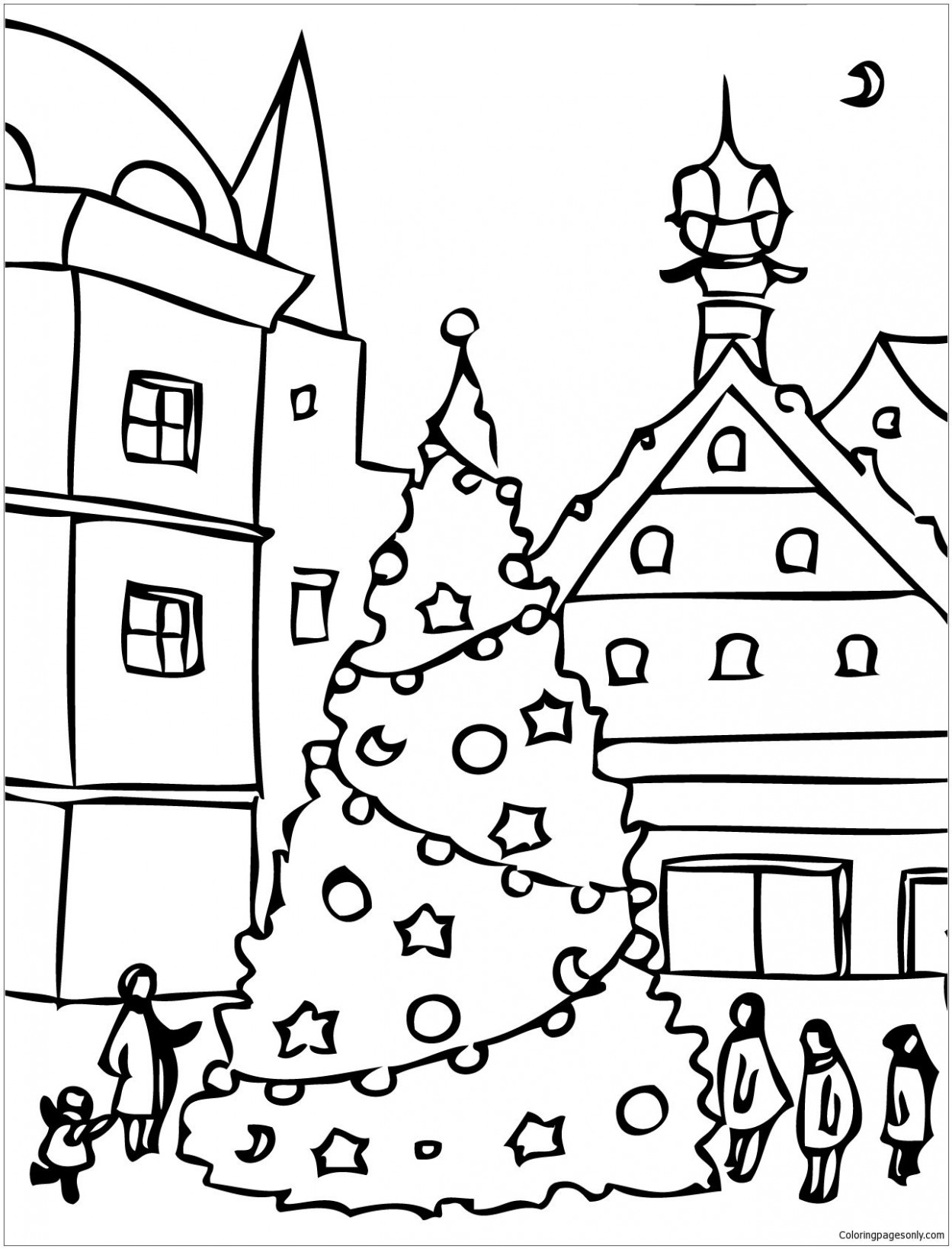 Christmas Day Coloring Page | Christmas Coloring Pages | Christmas ...