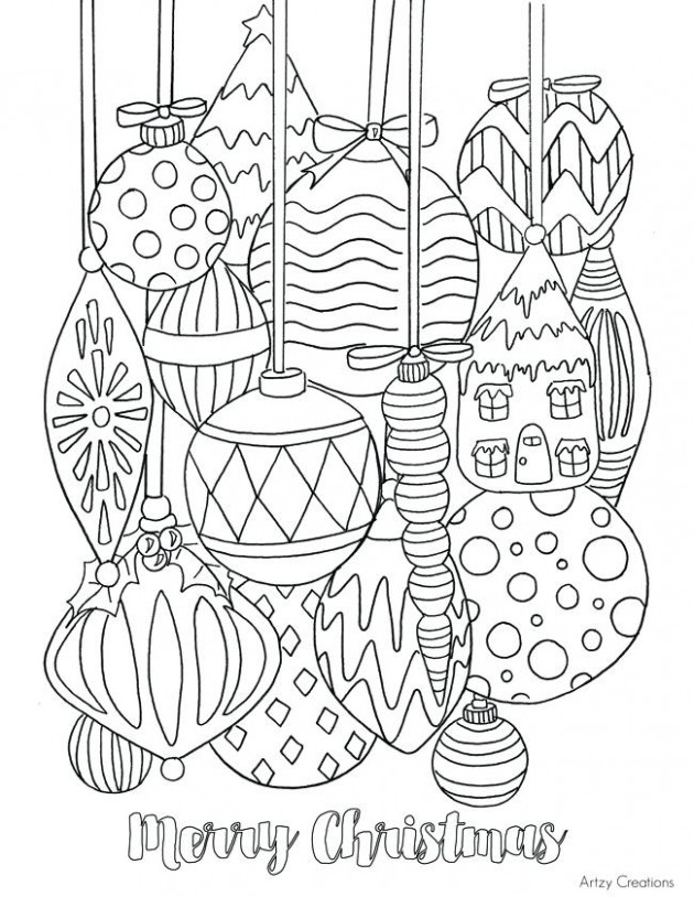 Christmas Decorations Coloring Pages Coloring Pages Decorations ..