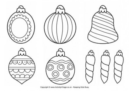 Christmas Decorations Colouring Pages – Christmas Colouring Pages Baubles