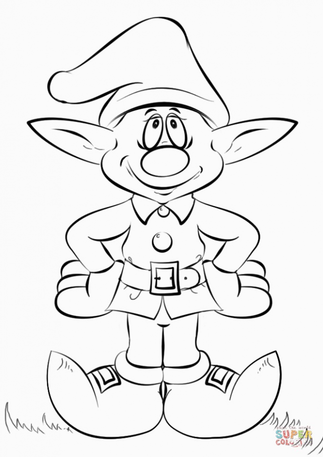 Christmas Elf Coloring Page for Elf Coloring Sheets | Get Coloring Pages – Christmas Elf Coloring Pages For Adults
