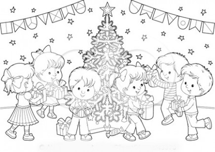 christmas eve coloring pages 19. christmas eve coloring page with ..