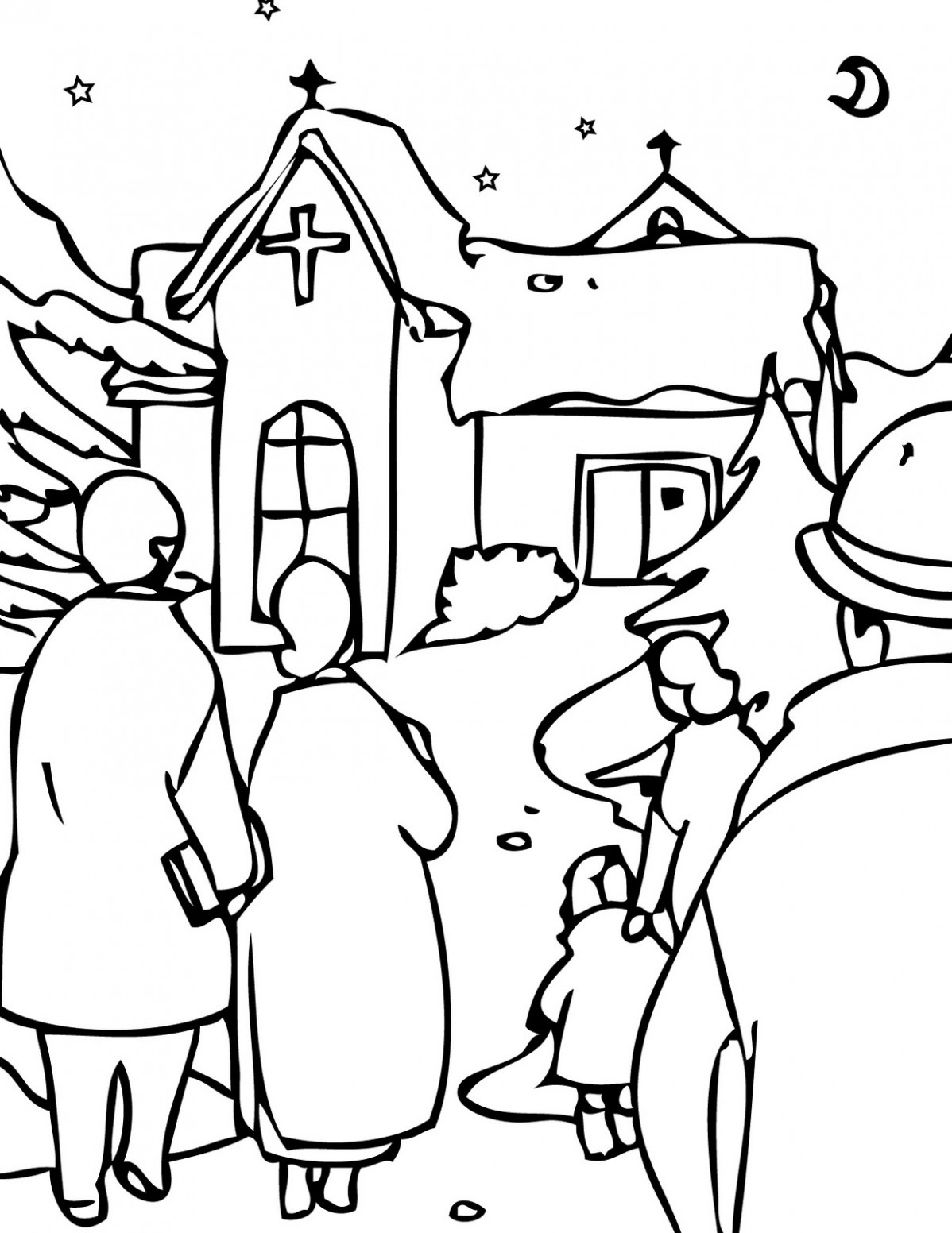 Christmas Eve Coloring Pages | Learn To Coloring