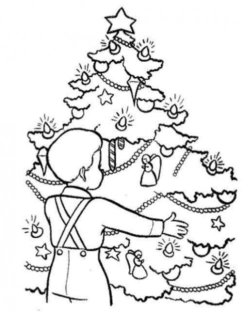 Christmas Eve In Germany Coloring Page | Christmas Eve | Coloring ...