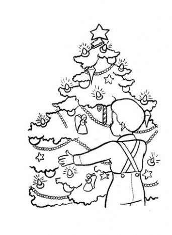 Christmas Eve In Germany coloring page | Free Printable Coloring Pages