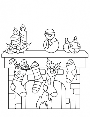 Christmas Fireplace coloring page | Free Printable Coloring Pages – Christmas Fireplace Coloring Page