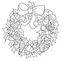 CHRISTMAS GARLAND coloring pages - 15 free Christmas printables for kids - Christmas Garland Coloring Pages