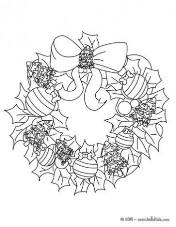 CHRISTMAS GARLAND coloring pages – Flowers and stars wreath ..