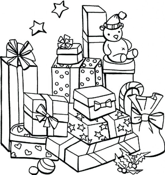 Christmas Gift Coloring Page Christmas Gifts Coloring Pages ..