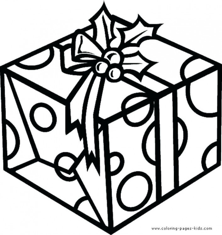 Christmas Gift Coloring Page Gifts Coloring Pages Full Size Of ..