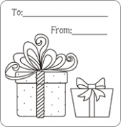 Christmas gift tags to color, free printable gift tags for kids to ..