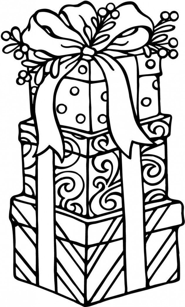 Christmas Gifts Coloring page for kids | Craft Ideas for Everyone ..