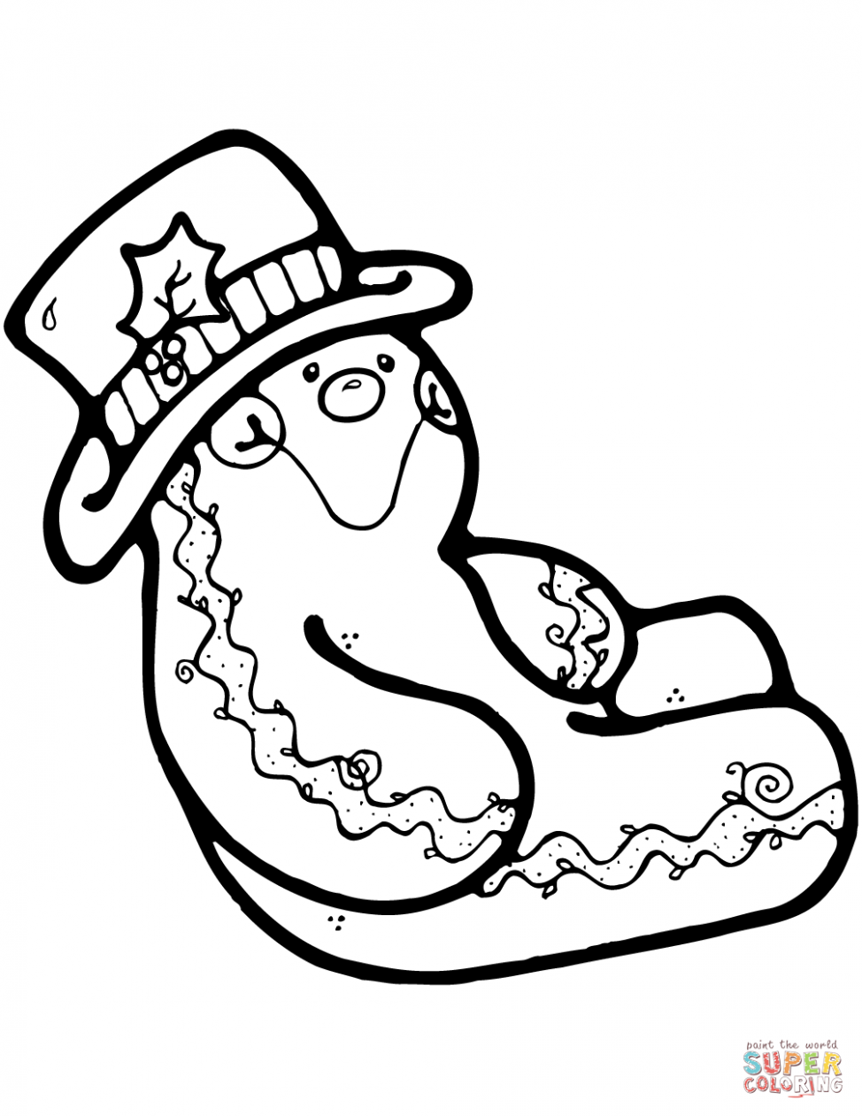 Christmas Gingerbread coloring pages | Free Coloring Pages - Christmas Coloring Gingerbread Man