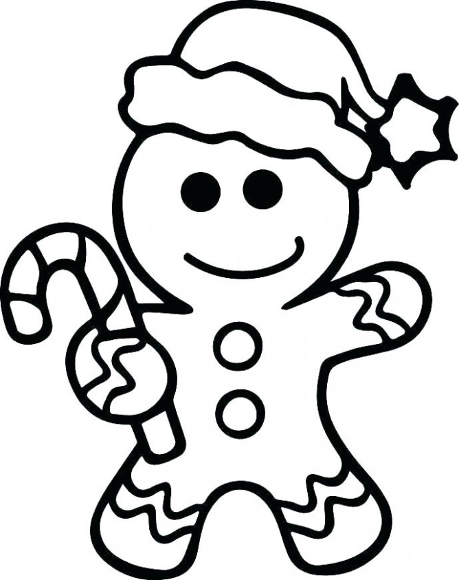 christmas gingerbread man coloring page – iamdriver