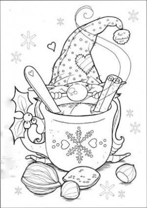Christmas Gnome Coloring Page | Arts  – Christmas Gnome Coloring Page