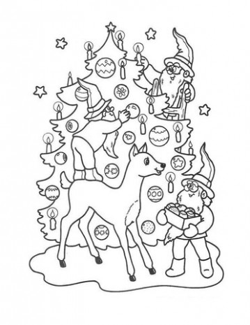 Christmas Gnomes coloring page | Free Printable Coloring Pages – Christmas Gnome Coloring Page