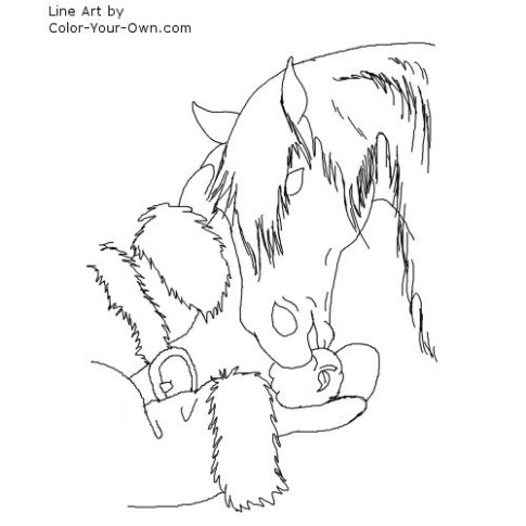 Christmas Horse Coloring Page – Christmas Horse Coloring Pictures