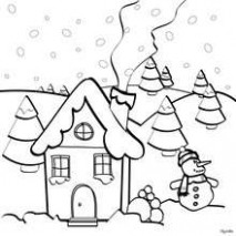 Christmas house coloring pages – Hellokids