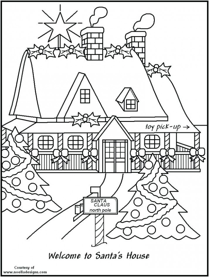 Christmas House Coloring Pages North Pole Printable Coloring Pages ..