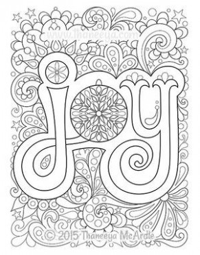 Christmas Joy Coloring Page by Thaneeya McArdle | Printable ..
