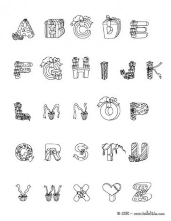 CHRISTMAS letters of alphabet coloring pages - Coloring pages ...