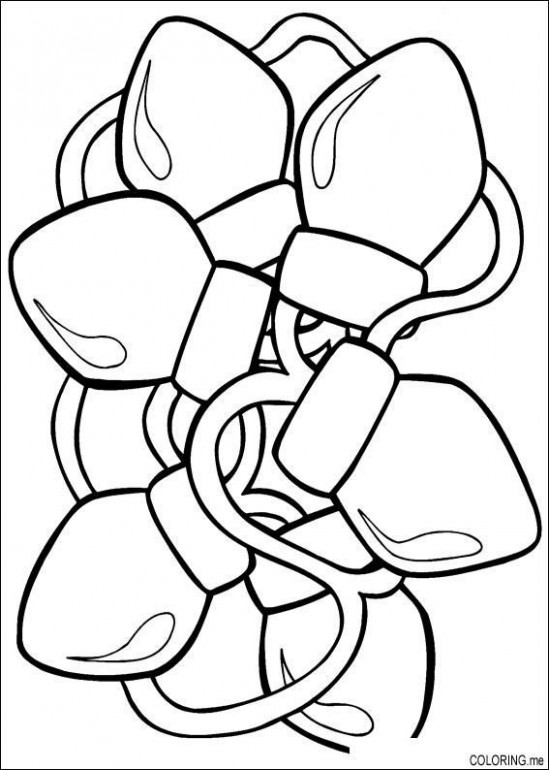 Christmas Lights Coloring Page | Christmas Tree Children's Ministry ...