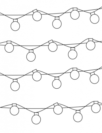 Christmas Lights coloring page | Free Printable Coloring Pages