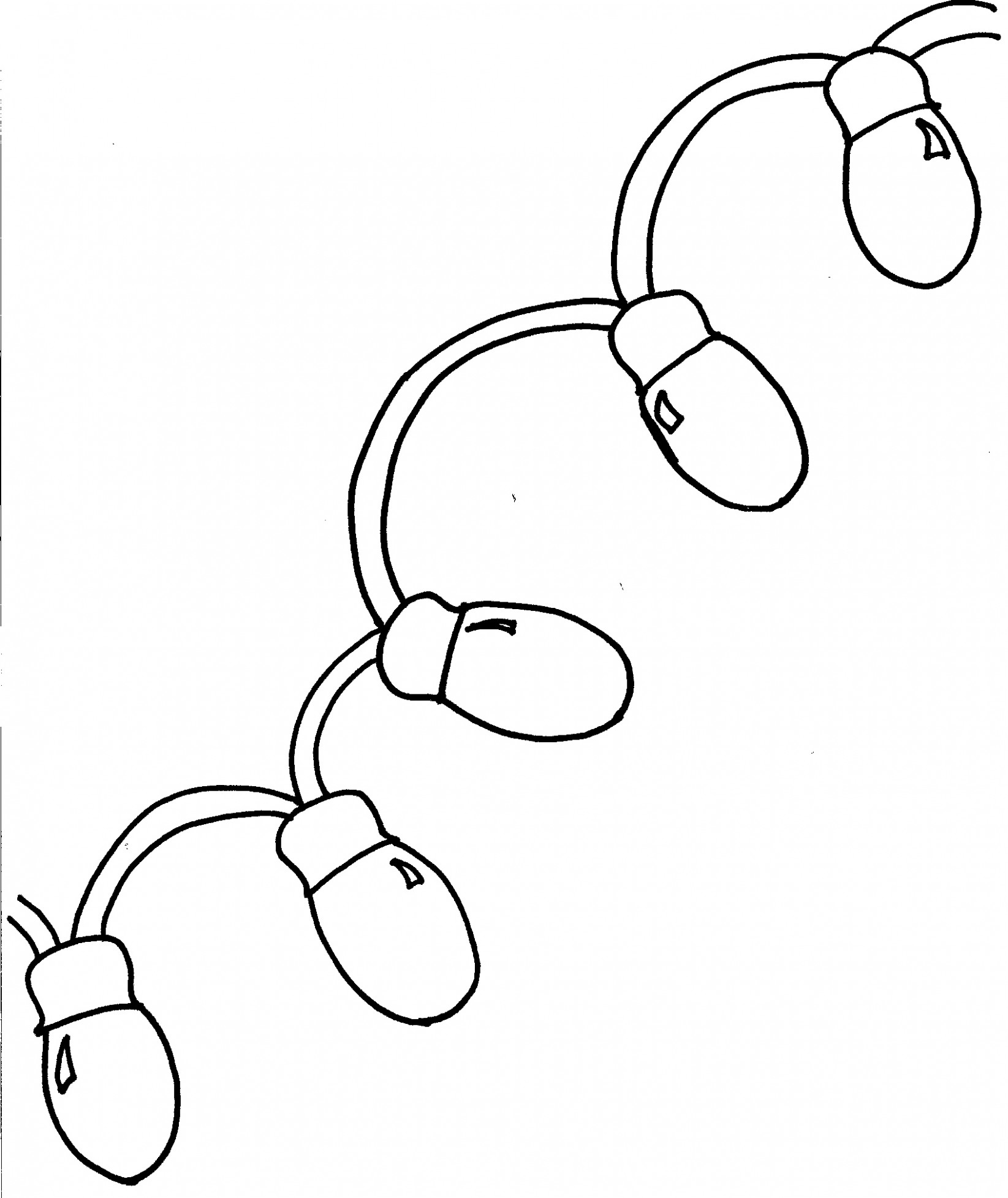 Christmas lights coloring pages – Coloring pages for kids – Christmas Lights Coloring Pages Print