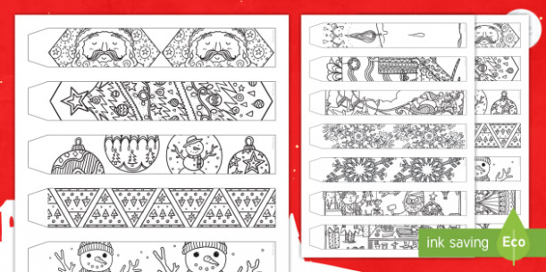 Christmas Mindfulness Colouring Paper Chain - christmas, mindfulness