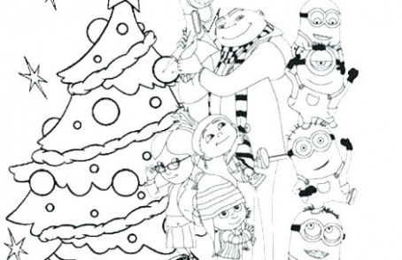 Christmas Minion Coloring Pages Minion Coloring Pages Merry ...