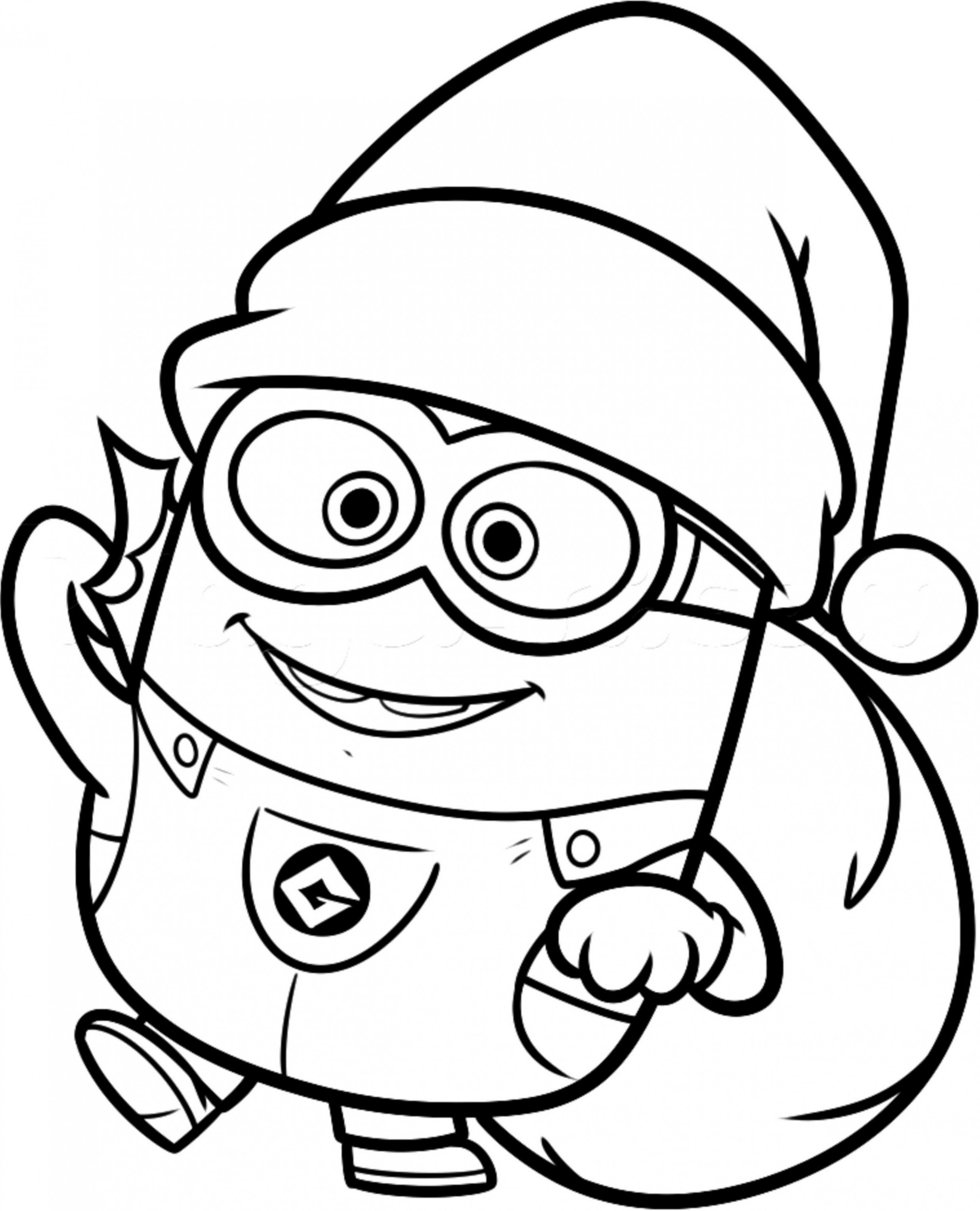 Christmas Minions Coloring Pages | Kids Colouring Pages | Minion ...