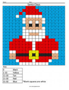 Christmas Multiplication and Division – Coloring Squared – Christmas Coloring Pages Multiplication