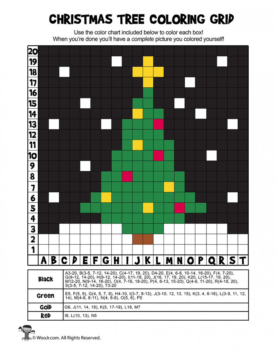 Christmas Mystery Pictures Coloring Page – ANSWER KEY | Woo! Jr ..