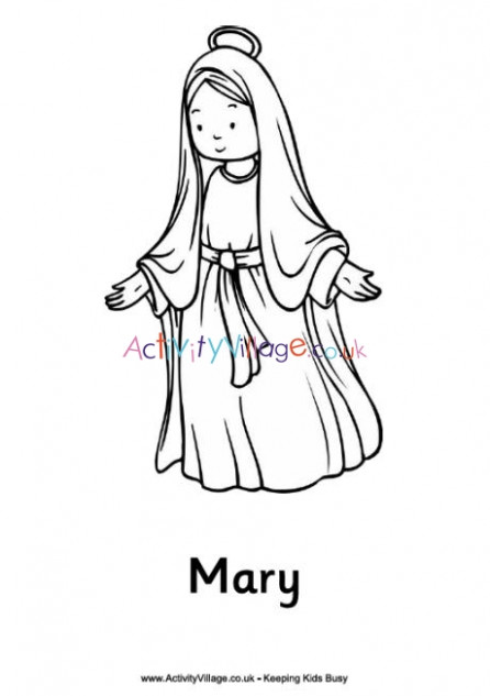 Christmas Nativity Colouring Pages - Mary - Christmas Colouring Pages Mary And Joseph
