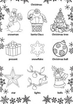 christmas & new year activities. christmas colouring pages. new year ...