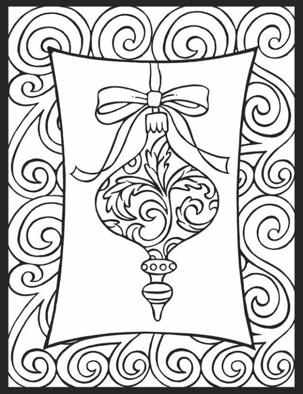 Christmas Ornament - Christmas Decorations Coloring Pages - Coloring ...