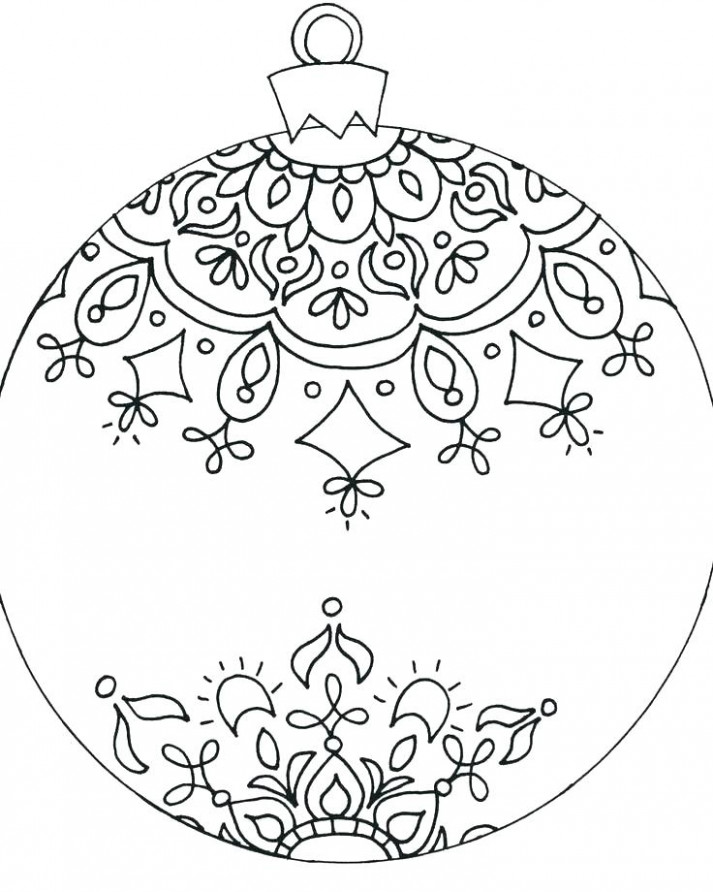 Christmas Ornaments Coloring Page A Ornament Coloring Pages Or ...