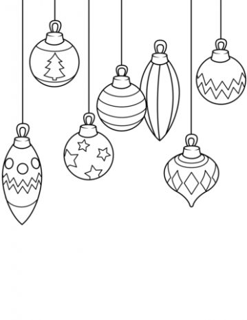 Christmas Ornaments coloring page | Free Printable Coloring Pages – Coloring Pages With Christmas Ornaments