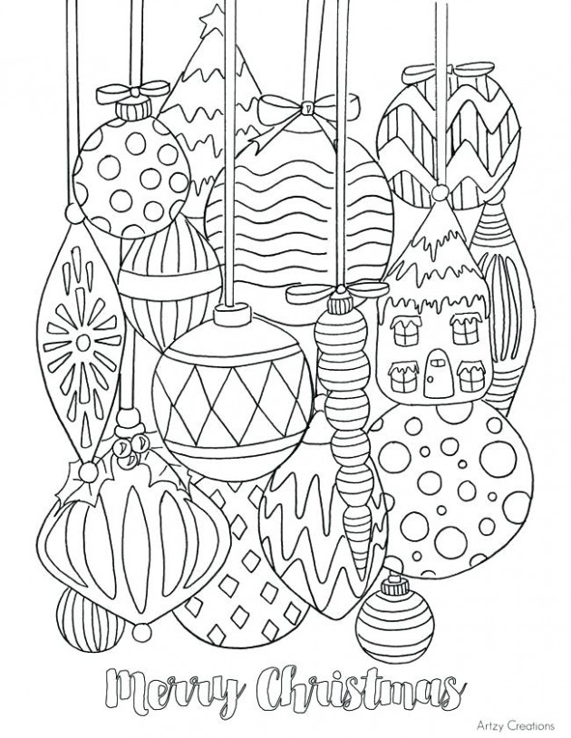 Christmas Ornaments Coloring Page Ornament Coloring Pages Free ...