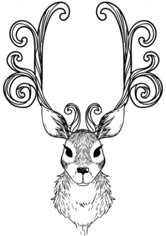Christmas Reindeer coloring page | Free Printable Coloring Pages – Christmas Deer Coloring Pages