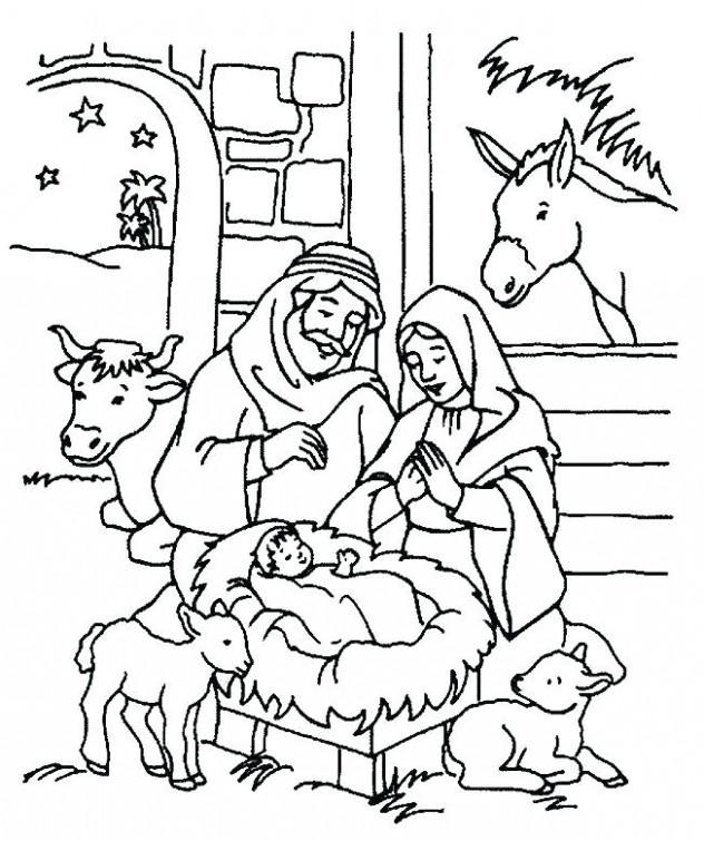 Christmas Religious Coloring Pages Free Bible Coloring Sheets School ...