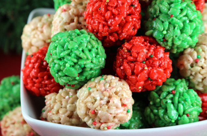Christmas Rice Krispie Treat Bites – Two Sisters – Christmas Colored Marshmallows