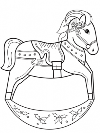 Christmas Rocking Horse coloring page | Free Printable Coloring Pages – Christmas Horse Coloring Pictures