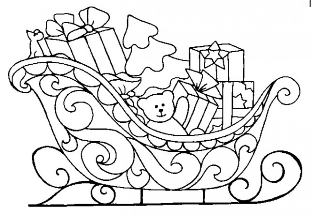 Christmas sled Coloring Pages | Crafts and Worksheets for Preschool ..